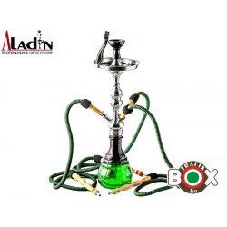 Vizipipa Aladin vízipipa black-green 65 cm 3 csöves W5X3grs