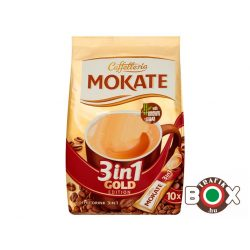 MOKATE 3IN1 10*18G GOLD Barna Cukorral