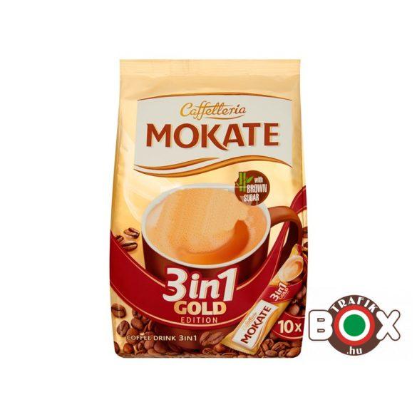 MOKATE 3IN1 10*18G GOLD Barna Cukorral